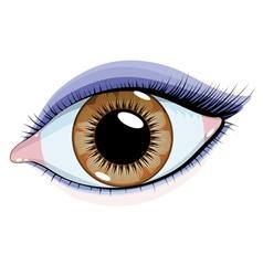 beautiful eye vector image vector image