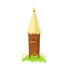 Bee hive on white background vector