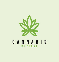 cannabis leaf logo design inspiration vector image