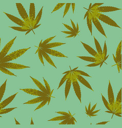 cannabis seamless pattern design - background vector image