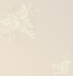 Card or invitation floral neutral background vector image