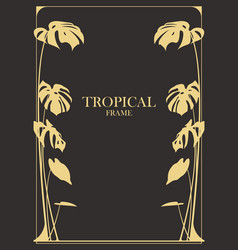 card template decorated tropical frame vector image