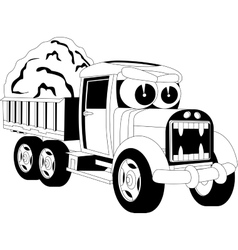Cartoon lorry car vector image