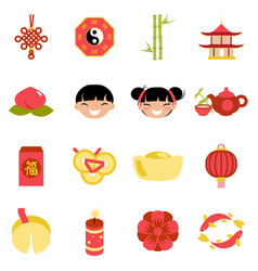 celebration chinese new year party holiday icons vector image