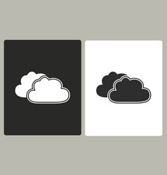 Clouds sky - icon vector
