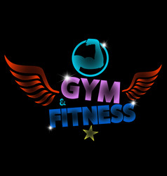Creative motivating banner for training in the gym vector