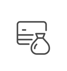 credit card saving line icon vector image