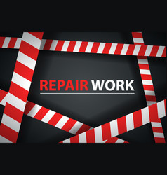crime repair ribbon on the dark background vector image