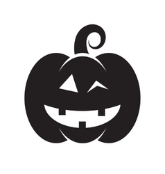 Cute Halloween pumpkin vector