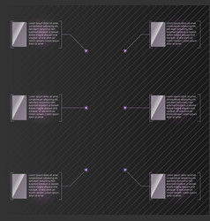 digital callouts titles set of modern templates vector image