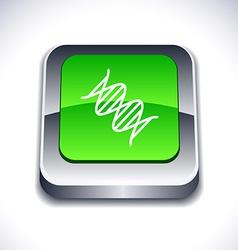 DNA 3d button vector image