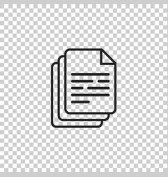 Document icon paper sheet simple pictogram vector