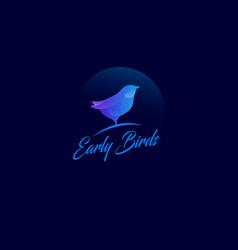 early bird logo vector image