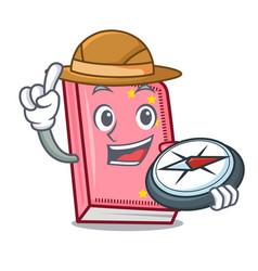 Explorer diary mascot cartoon style vector