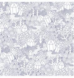 fantasy landscape pattern vector image