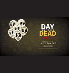 festive web banner day dead sale vector image