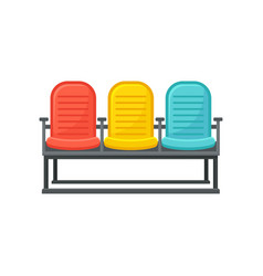 flat icon of comfortable chairs for vector image
