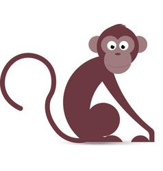 funny cartoon monkey in vector image