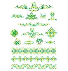 Green ornament vector