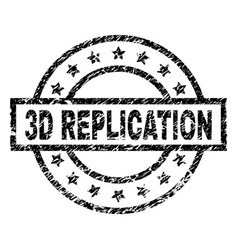 Grunge textured 3d replication stamp seal vector
