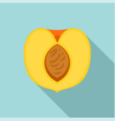 half peach icon flat style vector image