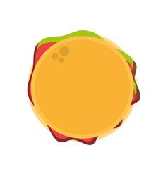 hamburger fast food image vector image