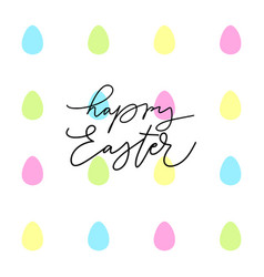 Happy easter egg doodle holiday design vector