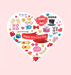 happy valentines day party decoration celebration vector image