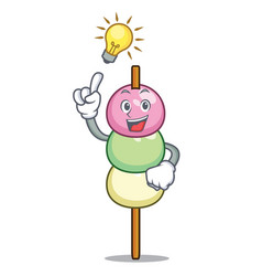 Have an idea dango mascot cartoon style vector