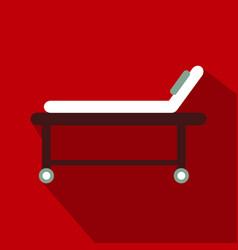 Hospital bed icon frame design vector