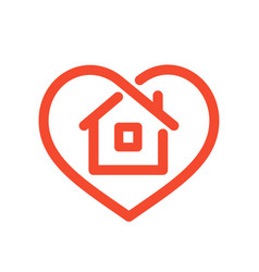 House in heart vector