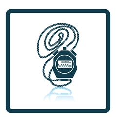 Icon of stopwatch vector image