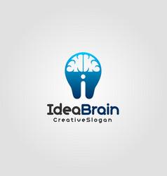 idea brain logo template vector image