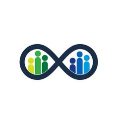 infinity people logo icon design vector image