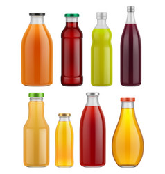 juice bottle glass isolated on white background vector image