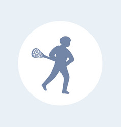lacrosse player icon isolated over white vector image
