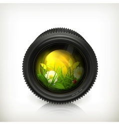 Lens icon vector image