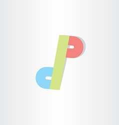letter d and p icon design vector image