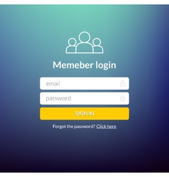Login user interface Sign in web element template vector image