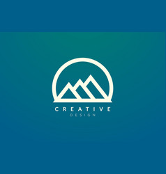 Logo design that combines circle objects with vector