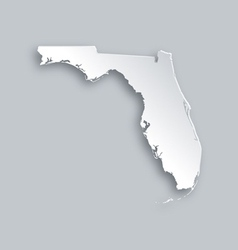 Map of Florida vector