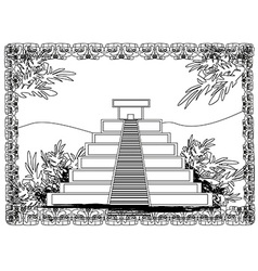 Mayan Pyramid Chichen-Itza Mexico vector