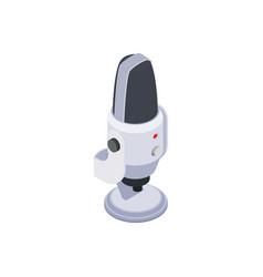 Microphone isometric icon vector