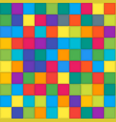 Multi color mosaic tile square background vector