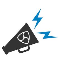 Nem megaphone alert flat icon vector