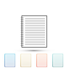 notebook icon isolated on white background vector image