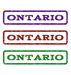 Ontario watermark stamp vector