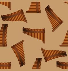 Pan flute pattern vector