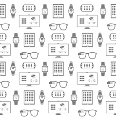 Pattern of smart gadgets vector image