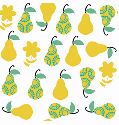 pear seamless pattern it is located in swatch vector image